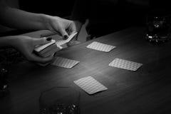 Intressant roligt kortspel, fritid Royaltyfria Bilder