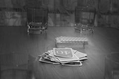 Intressant roligt kortspel, fritid Arkivbilder