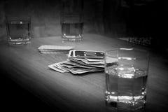 Intressant roligt kortspel, fritid Arkivbild