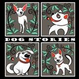 Intressanta hundberättelser Arkivbilder