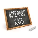 Intresse Rate Blackboard Fotografering för Bildbyråer