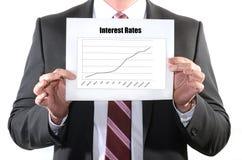 Intresse Rate Hikes Arkivfoto