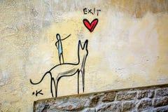 intressera för grafitti Royaltyfri Foto