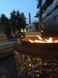 Intressera Firepit Royaltyfria Bilder