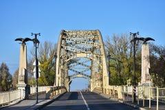 Bridge over Raba river in Gyor,Hungary. Intresting bridge over Raba river in Gyor in Hungary Stock Photos