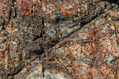 Intresting-Muster auf Felsformation stockfotos