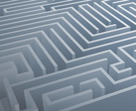Intricacy labyrinth isometric maze background 3d design template vector illustration Stock Images