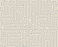 Intricacy labyrinth maze seamless pattern background design template vector illustration Stock Image