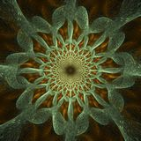 Intricate abstract #1. Detailed abstract fractal with striking lacework pattern stock illustration
