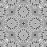 Intricate abstract seamless background. Repeating kaleidoscope pattern. Vector Stock Image