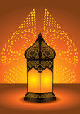 Intricate arabic floor lamp. Intricate islamic floor lamp vector illustration royalty free illustration