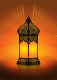 Intricate arabic floor lamp Royalty Free Stock Image