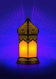 Intricate arabic floor lamp Stock Images