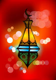 Intricate arabic lamp illustration Royalty Free Stock Photo