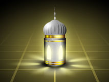 Intricate Arabic lamp with lights. Stock Photos