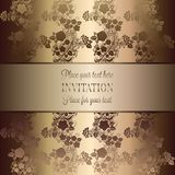 Intricate baroque luxury wedding invitation card. Vintage baroque Wedding Invitation template with butterfly background. Traditional decoration for wedding Royalty Free Stock Photo