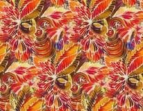 The intricate batik pattern royalty free stock photo