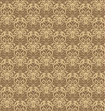 Intricate Beige and Brown Luxury Seamless Pattern Royalty Free Stock Images