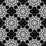 Intricate black and white pattern. Abstract lace-like seamless background. Vector Royalty Free Stock Photography