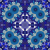 Intricate blue geometric circular pattern Stock Photos