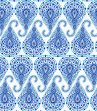 Intricate Blue Paisley Pattern Royalty Free Stock Photo