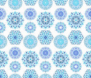 Intricate Blue Round ornaments Royalty Free Stock Photos