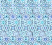Intricate Blue Tile Pattern Royalty Free Stock Image