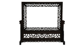 Intricate carved vintage wood picture frame stand Stock Images