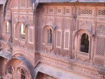 Intricate carved windows. Carved window of a fort in rajasthan jodhpur Royalty Free Stock Photo