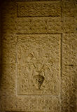 Intricate carving on a wall. Intricately carved wall in the Amer fort in Jaipur Royalty Free Stock Photo