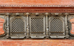 Intricate carving on windows Stock Image