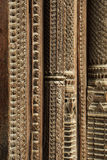 Intricate carving and Wooden work on the door Royalty Free Stock Photo
