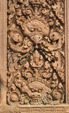 Intricate Carvings Banteay Srei, Cambodia Royalty Free Stock Photography
