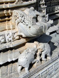 Intricate carvings in Jain temple Stock Photos