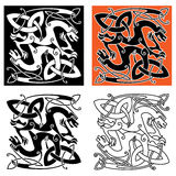 Intricate celtic mystical dragon animals Stock Photo