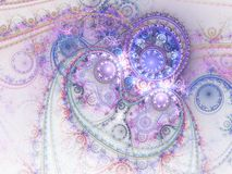Intricate colorful fractal clockwork Royalty Free Stock Photo