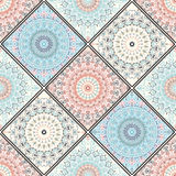 Intricate Colorful Tile Ornament Royalty Free Stock Photos