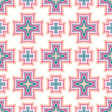 Intricate Crosses Pattern Tile Background Royalty Free Stock Photography