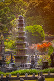 Intricate, Decorative Fountain at Tirta Gangga in Indonesia Royalty Free Stock Photos