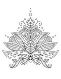 Intricate delicate floral design motif Royalty Free Stock Photos