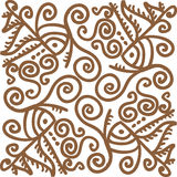 Intricate design. Intricate hand-drawn line art design - for use as border or seamless pattern stock illustration