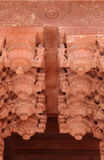 Intricate design in Agra Fort Stock Photo