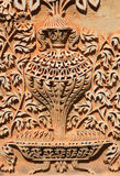 Intricate design carved on walls. Of Paigah tombs ruins in Hyderabad India stock photos