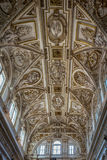 Intricate design on the ceiling of the Mosque Church in Cordoba,. Ornate design on the ceiling of the Mezquita de Córdoba,the Great Mosque of Córdoba, Mosque Royalty Free Stock Photography