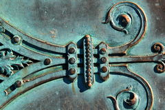 Intricate design of copper door Royalty Free Stock Photo