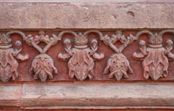 Free Intricate Design On The Outer Walls Of Diwan-i-am Of Agra Fort Stock Photography - 97967012