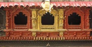 Intricate design on the windows of Hanuman dhoka durbar Stock Photography