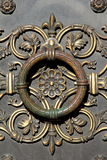 Intricate detail in brass door Royalty Free Stock Photography