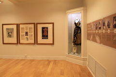 Intricate detail in exhibit that chronicals life of dancer Anna Pavlowa,National Dance Museum,Saratoga,2016 Stock Photo