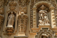 Intricate detail in historic carving of buildings throughout Balboa Park, San Diego, California, 2016 Royalty Free Stock Photos
